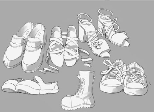 全角度鞋子素材! 绘画公开课交...