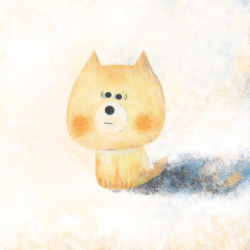 一只方脸的狗