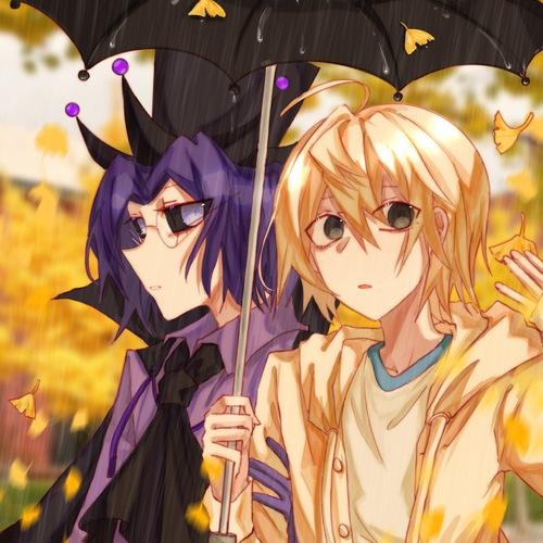 秋季的大雨和银杏叶