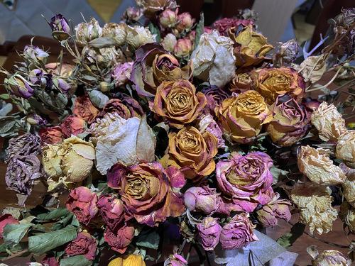 百分百满意的 我的干花们。