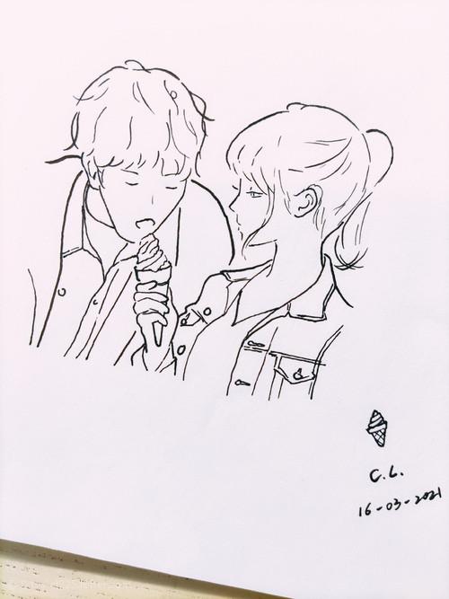"""『🍦』""""别说了,赔我雪糕。""""..."""