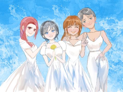 一起拍闺蜜婚纱照的她们,都很美...