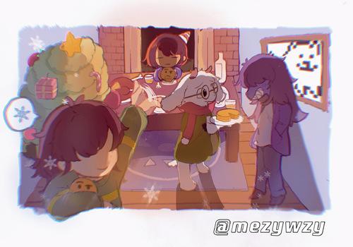 【暖和和】(以前画的圣诞贺图搬...